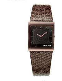 Police P10849MSBN-02 - Reloj analógico de mujer de cuarzo con correa de piel marrón - sumergible a 50 metros