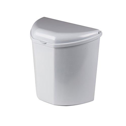 Universal, vielseitig montierbarer Mülleimer 10 Liter für Camping, Wohnwagen, Auto etc, inklusive Befestigungsmaterial • Campingküche Abfalleimer Zelt Küche Schrank Eimer Einbau Müllbehälter