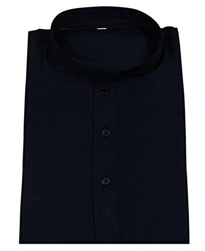 Manches-longues-bouton-coton-de-la-mode-mens-court-kurta-up-t-shirts-tees