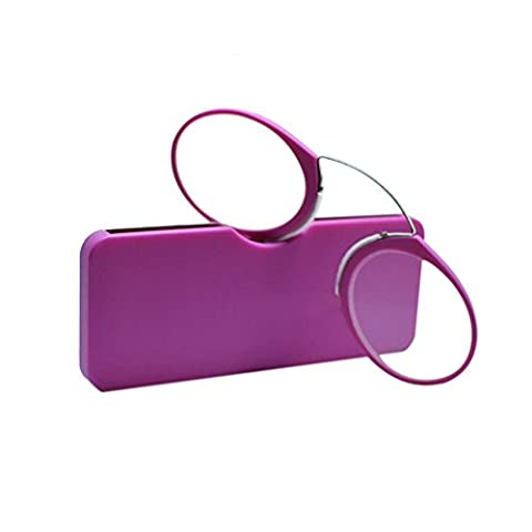 Haodasi Nose Resting Reading Glasses +1.0 to +3.5, Portable Wallet