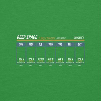 NERDO - Deep Space Weather Forecast - Damen T-Shirt Grün
