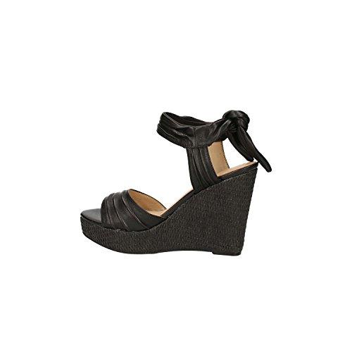 Guess FLHAG2 LEA03 Sandalo zeppa Donna Nero