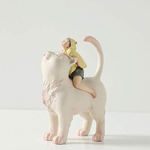 GONGFF Hogar Estatua Figura Figuras Adornos Blanco