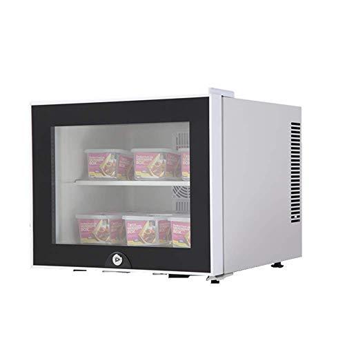 TUNBG Hotelzimmer Kühlschrank Lebensmittelgekühlte Vitrine 20 Liter große Kapazität tragbares Auto nach Hause Dual-Use-Kühlschrank Mini-Gefrierschrank - Schwarz/Weiß,Wei