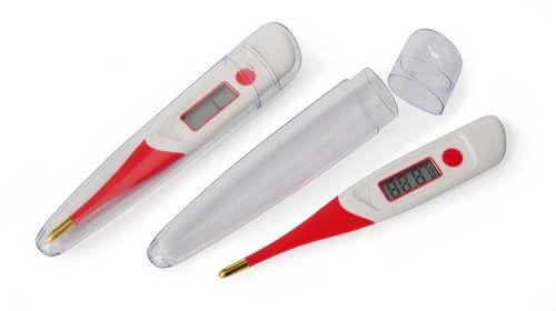 reer 9840 Digitales Fieberthermometer mit flexibler und vergoldeter Messspitze - 4