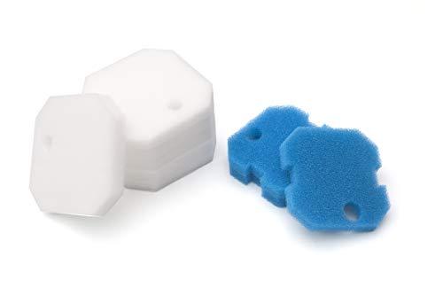 LTWHOME Filterschwamm Passend für Eheim 2616220 Professional 2222/2324 und Experience 150/250/250T (3 x Blau + 6 Weiß)