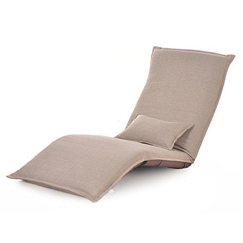 Faltbarer Fußboden-Stuhl-entspannender fauler Sofa-Bett-Sitz mit mehrfacher justierbarer Aufenthaltsraum-Boden-Liege-Lagerschwelle Futon-Matratzen-Sitz-Stuhl-Kissen ( Color : Beige )