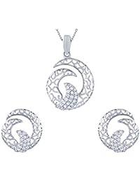 TBZ - The Original 18KT White Gold and Diamond Jewellery Set for Women
