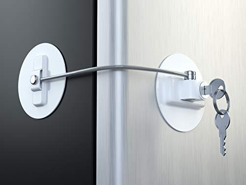 MUIN Kühlschranktürschloss mit 2 Schlüsseln - Weiß