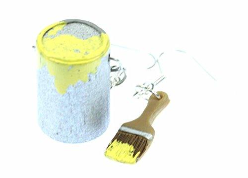 farbeimer-pinsel-set-ohrringe-farbe-lack-miniblings-maler-kunstler-malerset-gelb