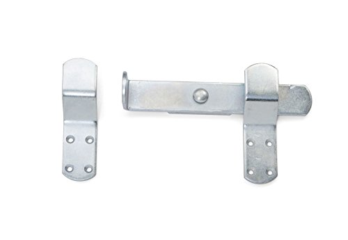 Shires Kick Over Door/Gate Bolt One Size Silver Muck, Tack