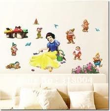 Disney - Schneewittchen und die 7 Zwerge - Wandsticker - Wandtattoo - Gr. ca. 43x25cm