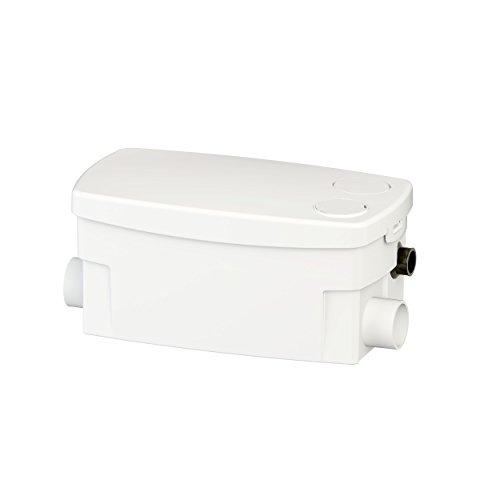 SFA SANIBROY 0016P Schmutzwasserpumpe / Haushaltspumpe SANIDOCHE+   Kompakte Pumpe speziell für Dusche, Waschbecken und Bidet   Förderdistanz : 55x5m, Wasser 40°, 400 Watt, 220-240 Volt