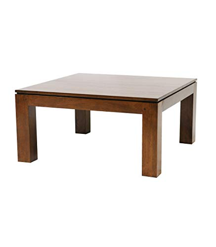 BELDEKO Table Basse Carrée en Hévéa Huilé
