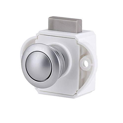 Festnight Push Button Latch Keyless Cabinet Latch für RV Caravan Schranktür 1 Stück