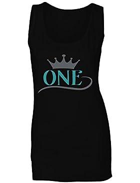 Una Corona camiseta sin mangas mujer n603ft