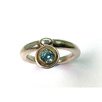 Silberring mit blauem Zirkon