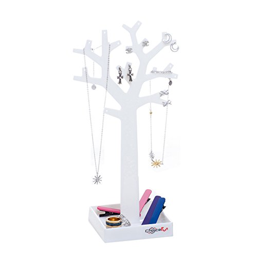 Choice Fun blanco montado pendiente titular plástico joyería árbol