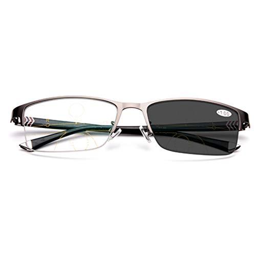 ZY Reading Glasses Intelligente automatische Zoom Photochrome Multifokale Lesebrille - für Herren/Damen - Sonnenbrillen