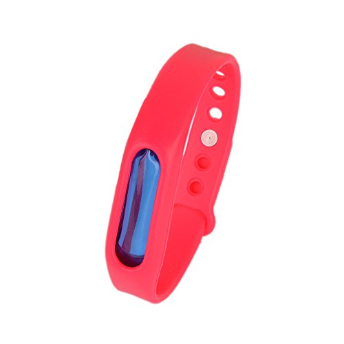 Kroo Mosquito Armband Insektenschutzmittel Armband Schutz und verstellbarer Armband Gurt für Babys Audlt und Haustiere rot