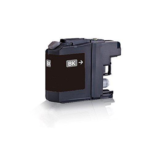 Preisvergleich Produktbild 1x kompatible Tintenpatrone für Brother Black - Schwarz LC121 LC123 MFC J245 MFC J4310 DW MFC J4410 DW MFC J4510 DW MFC J4610 DW MFC J4710 DW MFC J6520 DW MFC J6720 DW - Eco Office Serie