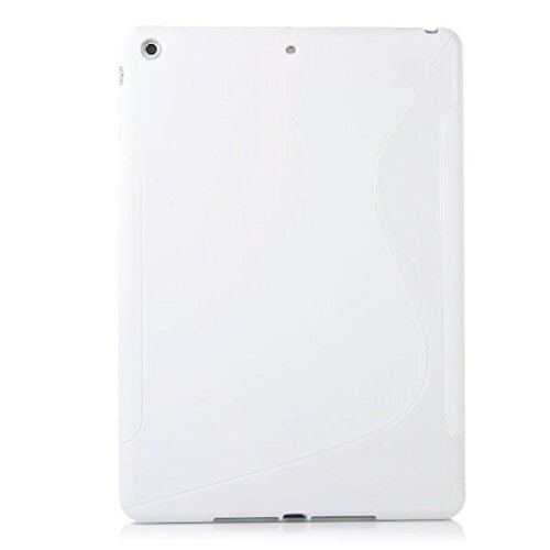 S Line Wave Soft coque en Gel TPU Blanc Coque arrière pour Apple iPad 2