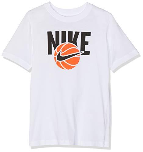 Nike Jungen B NSW Tee Basketball Ball T-Shirt White M