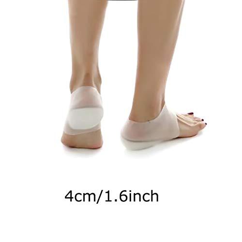 Greenstore Einlegesohlen, unsichtbar, zur Erhöhung der Höhe, medizinisches Gel-Schuhe, Fersenpolster, erhöht die Höhe der Einlegesohle, Schmerzlinderung -