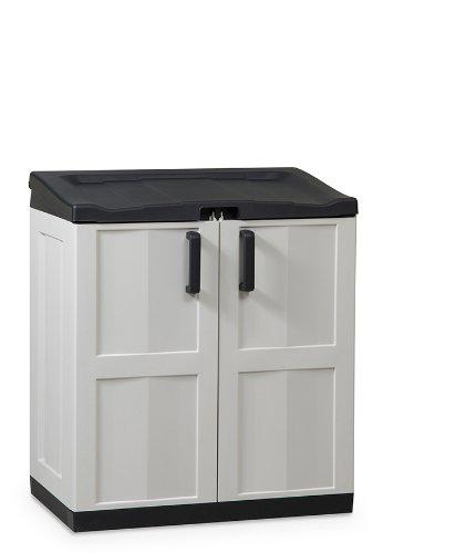 Dea-Home-Comfort-Line-Recyclingbox-Mllbox-Aufbewahrungsschrank-Gre-XL-102-x-90-x-54-cm-inkl-Deckel-2-Tren-30-Mllbeutel-grauschwarz