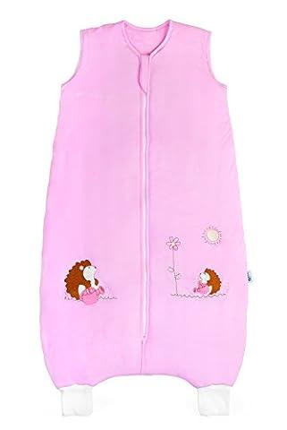 Slumbersac Bamboo Baby Summer Sleeping Bag with Feet approx. 1 Tog - Pink Hedgehog - 18-24 months