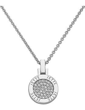 JETTE Silver Damen-Collier ALWAYS MINI 925er Silber 37 Zirkonia silber, One Size