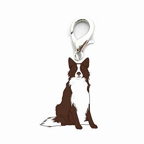 BONNIO Dog ID Tag Auto Schlüsselbund, Cute Dog ID Tags Metall Hund Schlüsselbund Auto Schlüsselanhänger -