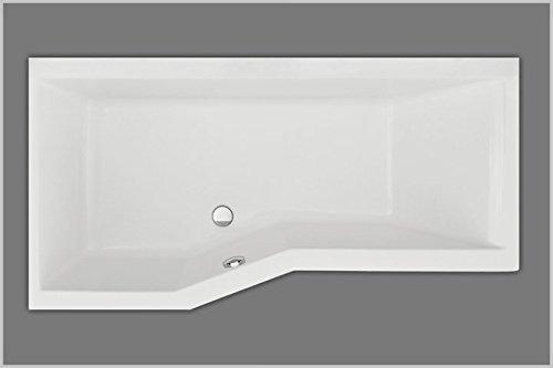Unbekannt Raumsparbadewanne Acryl 170 x 85 rechts, aus Acryl, Farbe weiß