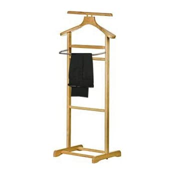 Alicia Modern Wooden Clothing Valet Butler Stand Tray ...