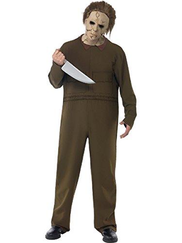 (Kostüm Halloween Fasching Erwachsene Michael Myers Herr der Tod * 13885, Mehrfarbig Einheitsgröße)