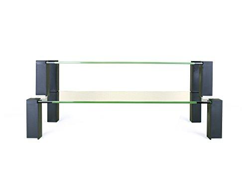 TekEssentials Glass Monitor Riser Desk/Table Stand Double