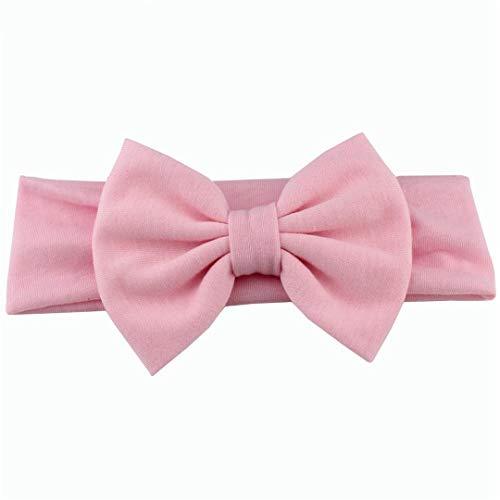 Solide Baumwolle Bogen Stirnband Für Mädchen Große Haarbögen Kinder Elastische Haarbänder Mädchen Geburtstagsfeier Geschenke Haarschmuck Light Pink 13 inch (Stretch-vinyl-stoff)