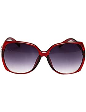 MissFox Mujer Gafas de Sol Retro Lente Talla única UV400 Moda Deportivas Sunglasses Vino rojo