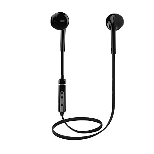 Cuffie Bluetooth V4.1 Wireless Stereo Auricolari con Microfono Incorporato per iPhone X/8/8 Plus/7/ 6 Samsung Galaxy/Note Huawei e Android Smartphone(Nero)