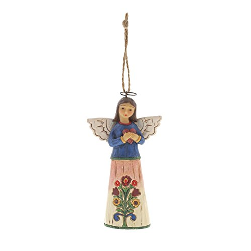 Heartwood Creek Folklore Angel with Heart Hanging Ornament -