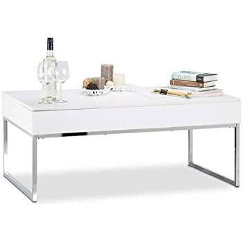 Generique Zanzibar Table Basse Transformable 110x75 Cm Laque Blanc