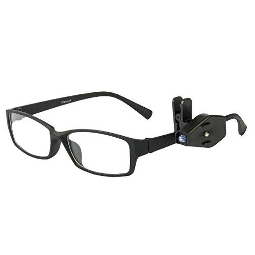 Oramics LED Clip für Brillen zum Lesen im Dunkeln Handtaschenlicht