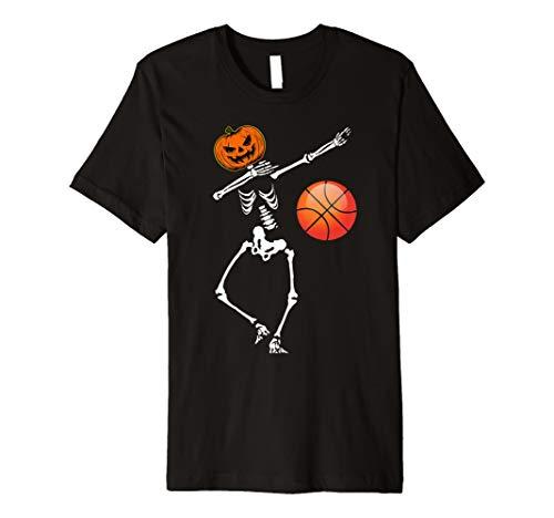 Basketball Tupfen Skeleton Kürbis TShirt Halloween-Kostüm