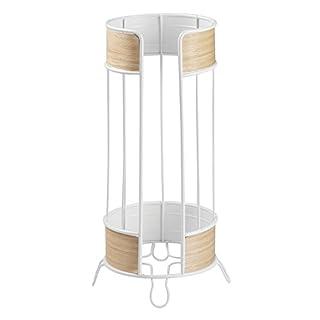 interdesign 90480eu realwood freistehender toilettenpapierhalter edelstahl weihelles holz 18161 x 18161 - Moderner Freistehender Toilettenpapierhalter
