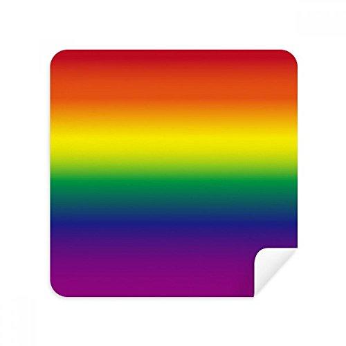 Gradient LGBT Rainbow Homo Gafas de limpieza de gamuza limpiador de pantalla de gamuza de gamuza 2 piezas