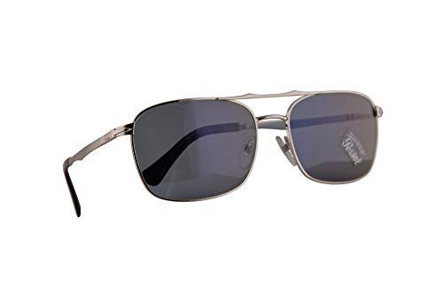 Persol 2454-S Sonnenbrille Silber Mit Blauen Gläsern 60mm 51856 PO 2454S PO2454S PO2454-S