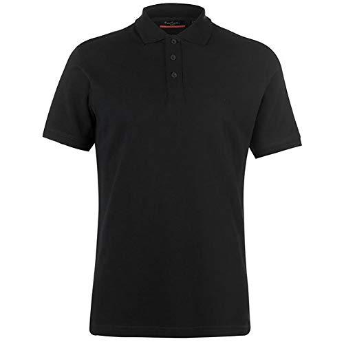 Pierre Cardin Mens Neue Saison klassische Passform Premium Polo T-Shirt aus Baumwolle (Klein, Schwarz)