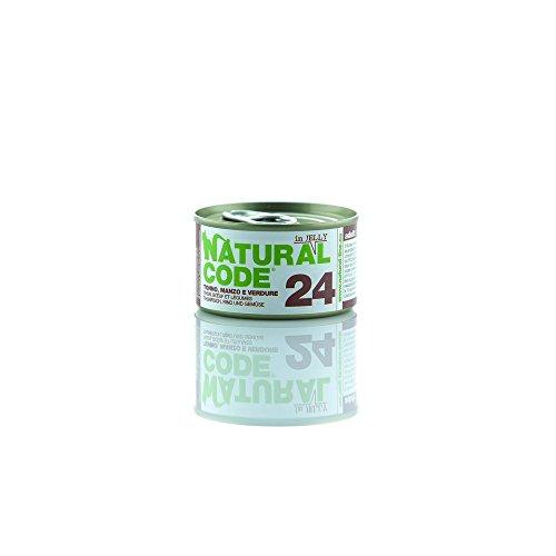 NATURAL CODE Cat 24 Jel Thunfisch Rindfleisch Wet Cat Futter Premium (Natural Code)