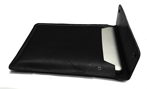 Chalk Factory Genuine Leather Sleeve/ Slipcase for Apple MacBook Air MMGF2HN/A 13.3-inch Laptop #OR (BLACK)