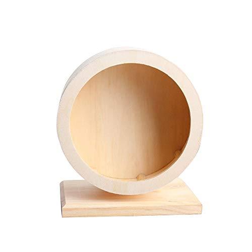 EMVANV Rad für Hamster, geräuschloser Spinner, Komfortables Laufrad, aus Holz, kleine Tierkäfig-Spielzeug, klein